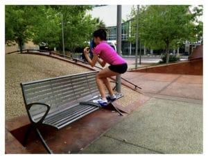 entrenando en el parque
