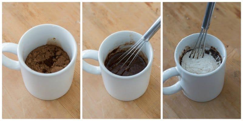 Mug Cake de avena y chocolate