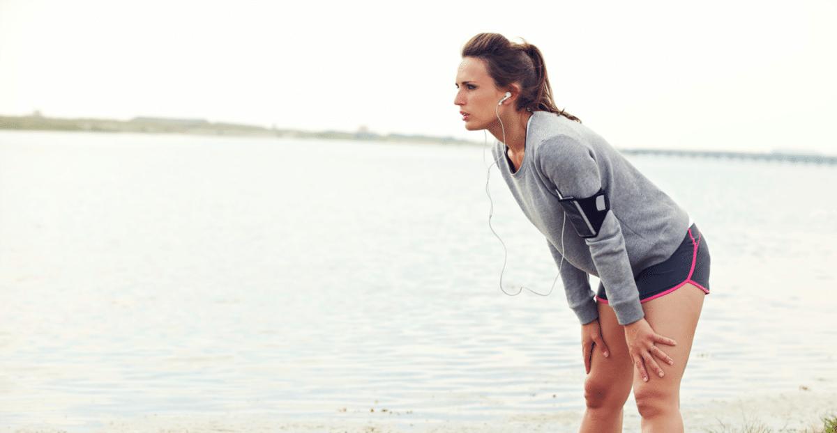 Controla tu respiración al correr.