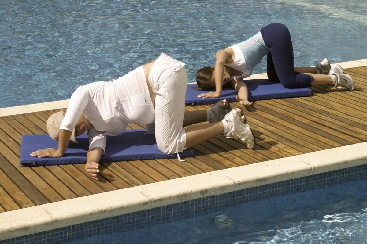 Yoga para embarazadas; en activa relajación.