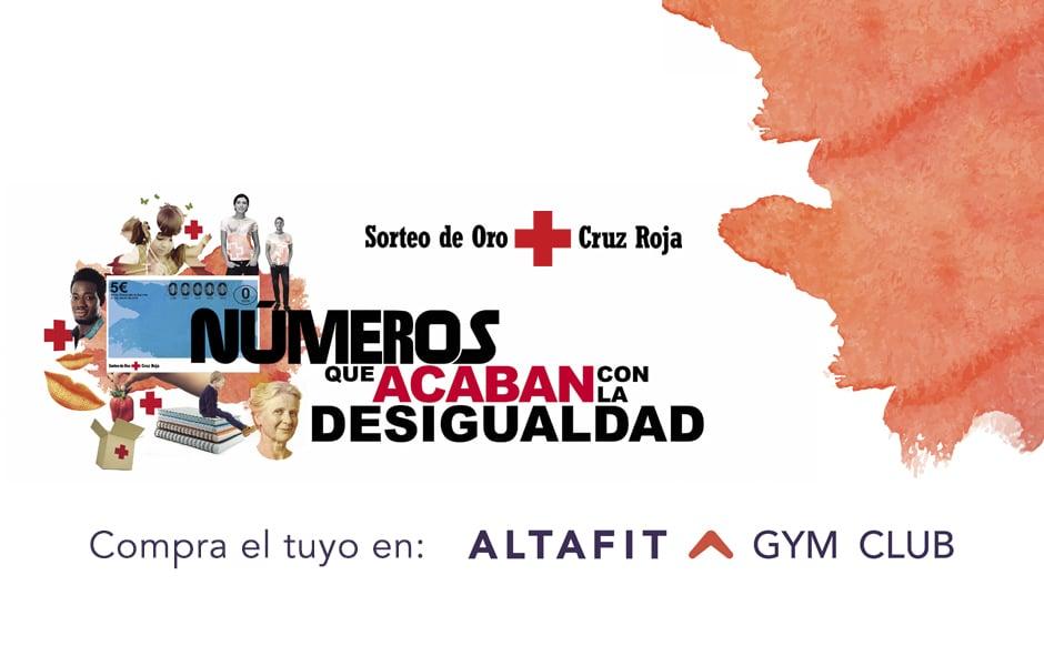Altafit colabora con el Sorteo del Oro de Cruz Roja.