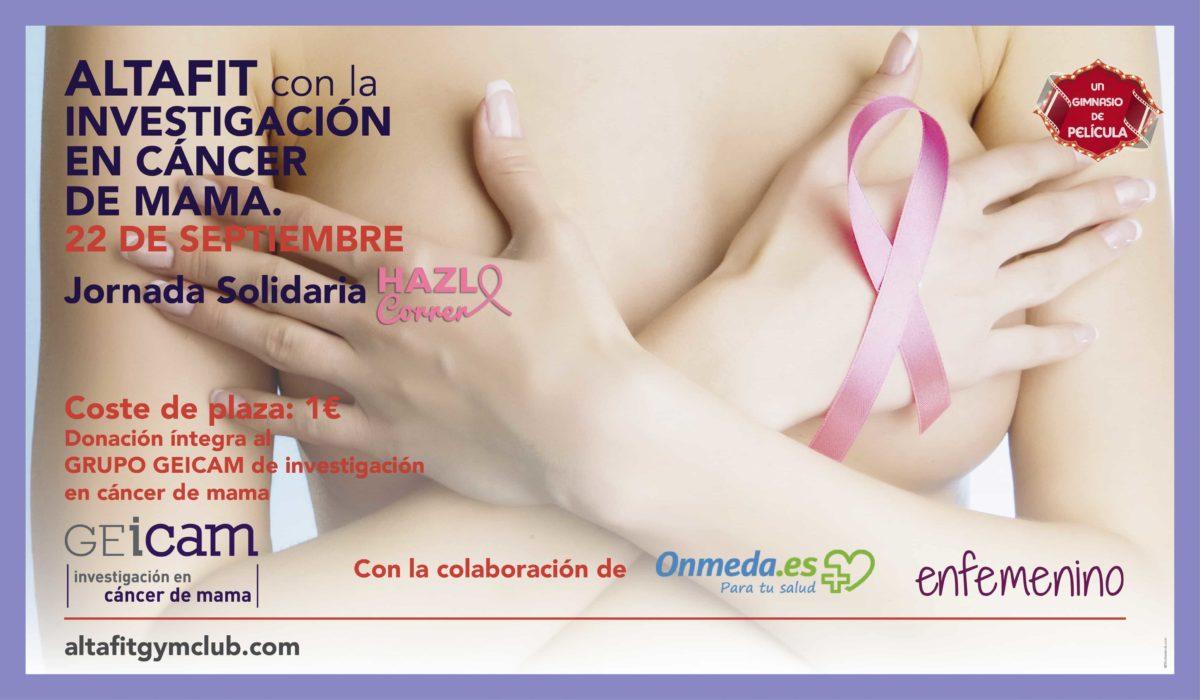 Jornada solidaria con la investigación en cáncer de mama – 22 de septiembre.