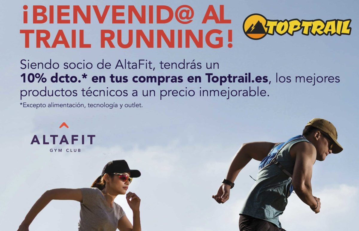 Los socios de Altafit tienen descuento en sus compras en TopTrail.es