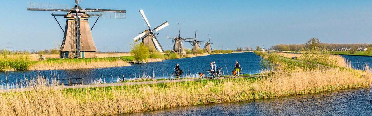 Holanda, paraíso de los viajes en bicicleta por Europa.