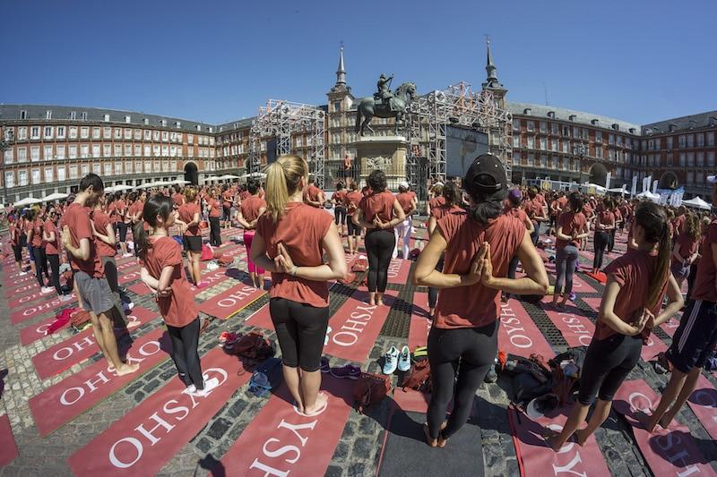 Free Yoga, el 3 de junio en el Paseo del Prado de Madrid