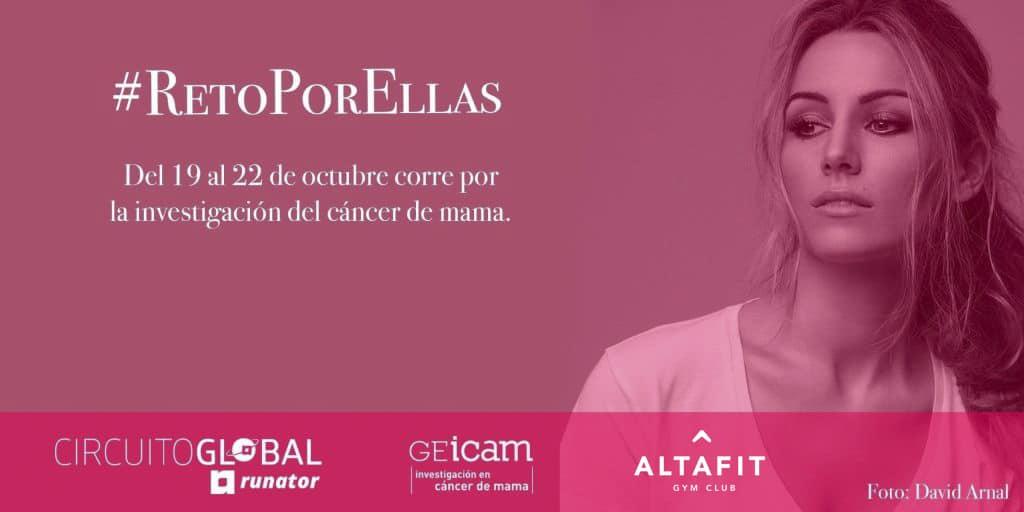 Altafit se suma al #RetoPorEllas de Geicam para la investigación en cáncer de mama