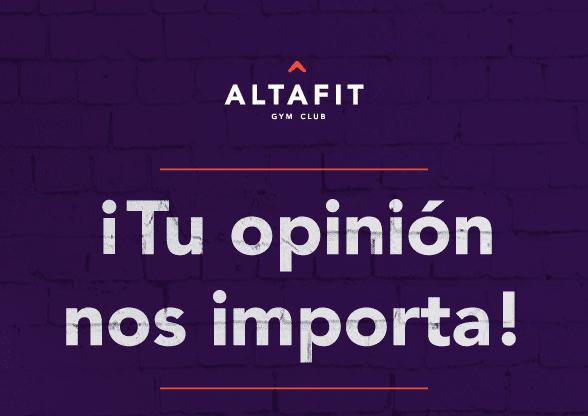 Concurso Altafit ¡Tu opinión tiene premio!
