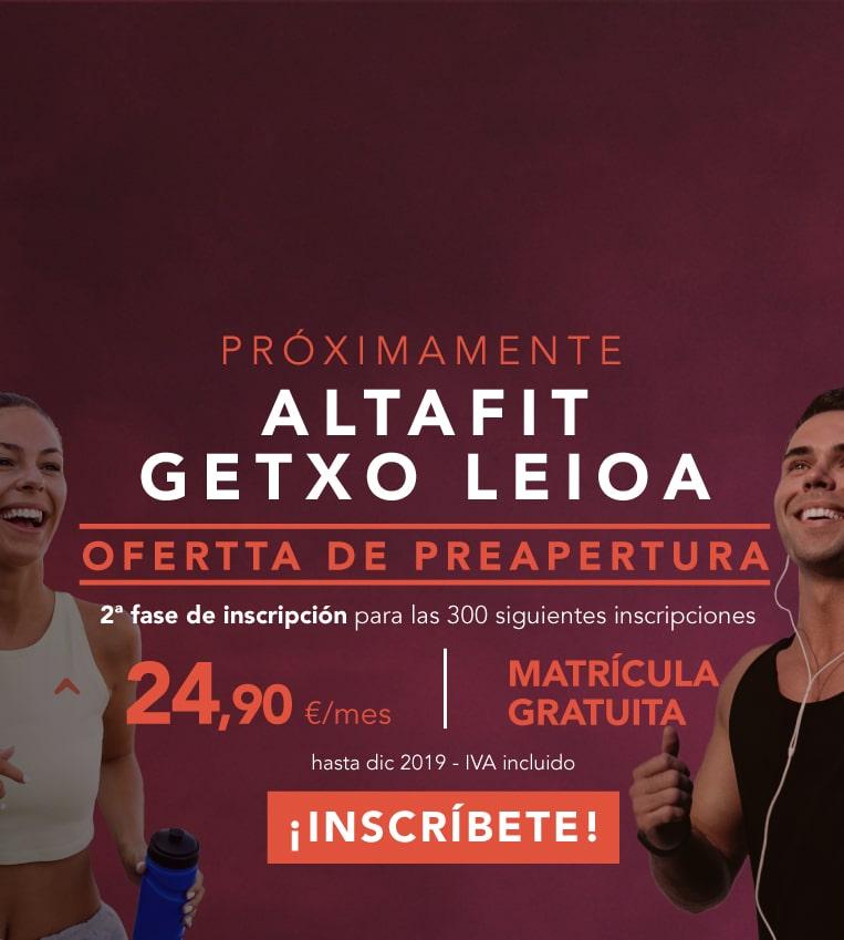 Inscríbete ya en Altafit Getxo Leioa