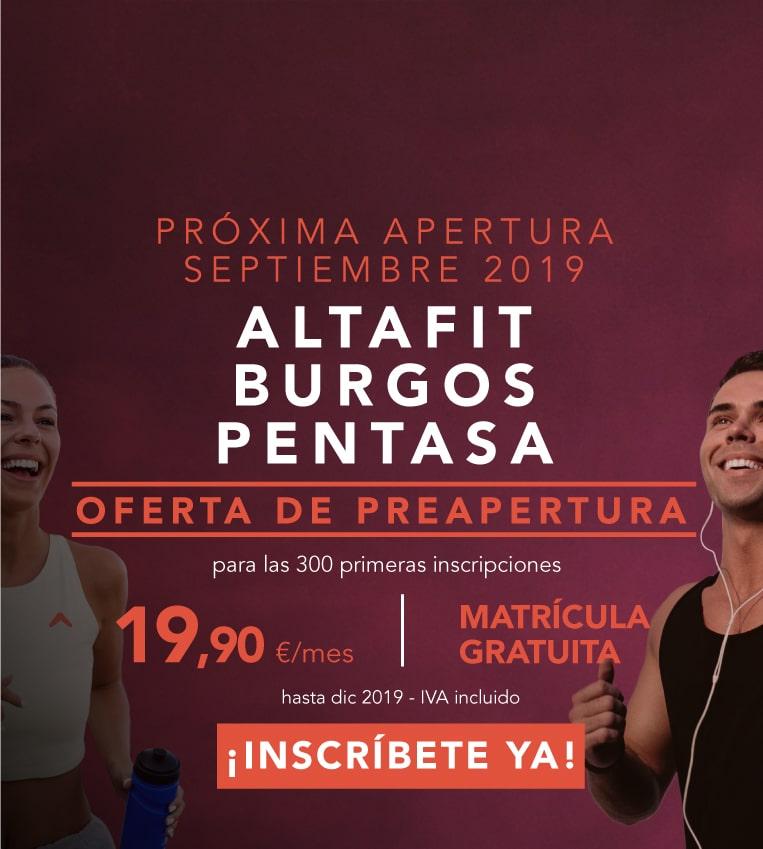 Inscríbete ya en Altafit Burgos Pentasa
