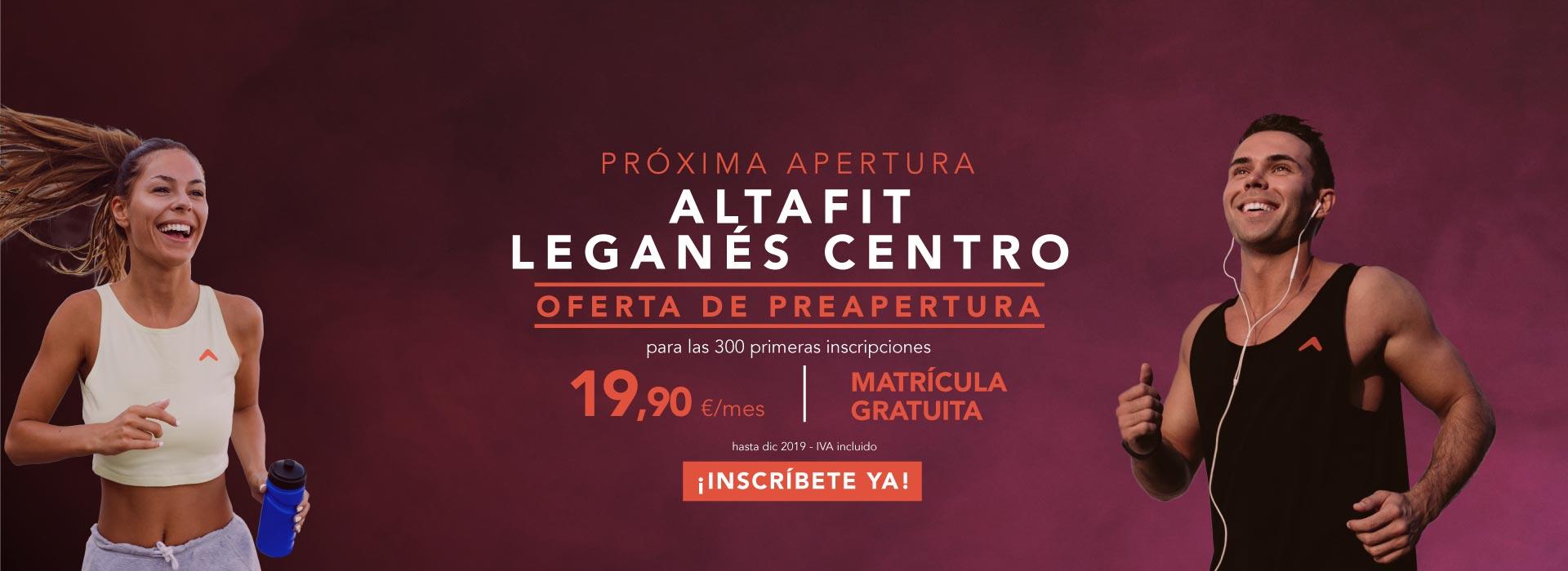 Inscríbete ya en Altafit Leganés Centro
