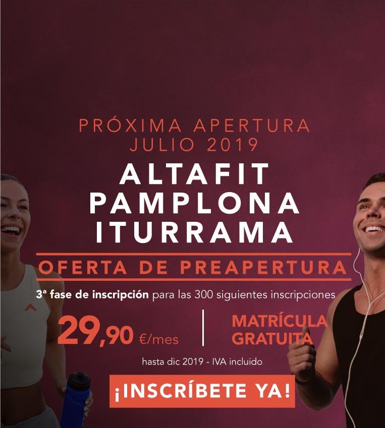 Inscríbete en el nuevo Altafit Pamplona Iturrama