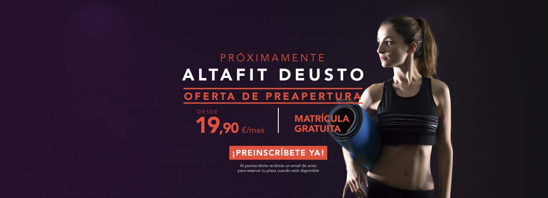 Preinscríbete en el nuevo Altafit Desuto